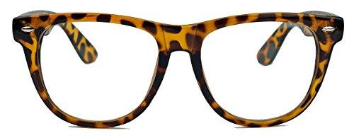 Geek Style XL ! oversized Fashion Brille Nerdbrille Streberbrille Klarglas 153 (Hornbrille)