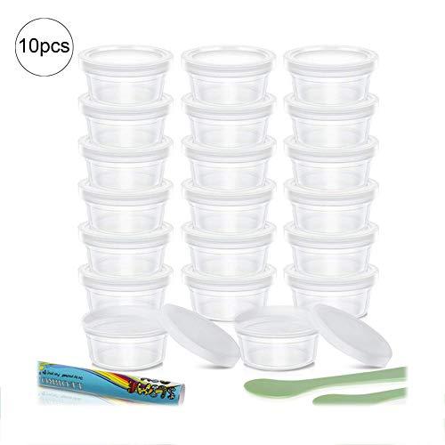 Switty Contenitori Slime,10Pack Foam Ball contenitori con coperchi per 20g Slime, Slime
