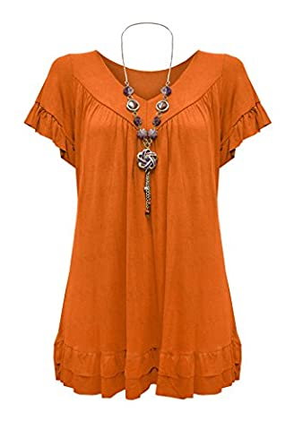 Blush Avenue® Ladies Girls Summer Plus Size Frill Necklace Gypsy