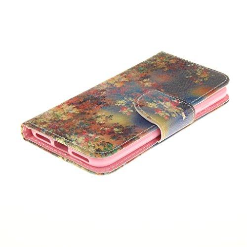 CareyNoce Apple iphone 7 Plus Coque,Flip Housse Etui Cuir PU Coque pour Apple iPhone 7 Plus (5.5 pouces) -- Léopard #1 T30