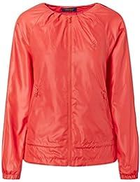 Ralph Lauren Ripstop Pleated Jacket Coral Glow S