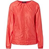 Ralph Lauren Ripstop Pleated Jacket Coral Glow XS