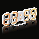 Zarupeng LED Digitale Uhr 3D, Elektronischer Lautlos Timer Praktischer Tisch Schreibtisch Nachtwand Uhr Alarm Watch 24/12 Stundenanzeige (One Size, D)