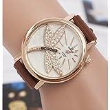 Women's Fashion Diamond Butterfly Quartz Wrist Watch(Assorted Colors)