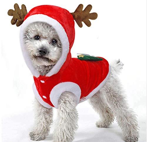 Kigurumi de Reno Navidad para Perros Pequeños
