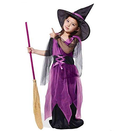 POLP Niño-Halloween Disfraces de Disfraces de Halloween para niños Halloween Disfraz niña Disfraz Halloween Bebe Bruja Criatura Nocturna Escoba de Bruja niña Halloween disfrazarse