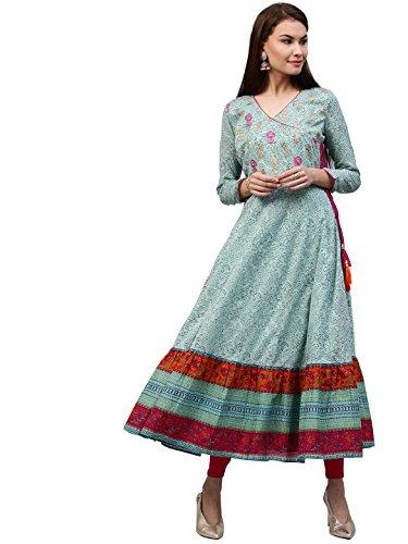 Jaipur Kurti Women's Straight Kurta (JK3042-L!_Blue)