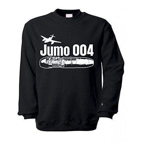 004 Jumo motore a reazione inoperativo Me262 nell'aria pistola gurimotex Wk Ar234 medio tedesco motori opere MIMO - Pullover #17230 nero XX-Large
