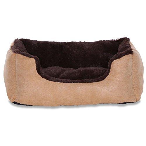 Cama para perros – Perros Cojín – Perros sofá con cojín Reversible tamaño y color a elegir (marrón/beige)