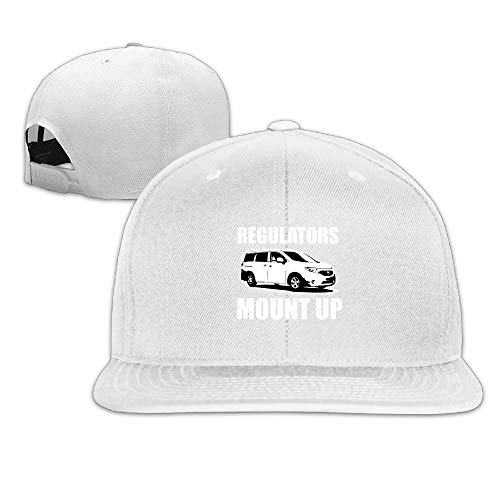 Preisvergleich Produktbild Regulators Mount Up Washed Unisex Adjustable Flat Bill Visor Hip-Hop Hat, Men Women Classic Outdoor Sports Adjustable Sun Snapback Trucker Baseball Hat Cap