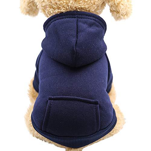 mxjeeio Hunde Katzen Kleidung Kapuzenpulli für Kleine Haustier Männchen und Weibchen Muster Schlafanzug Jumpsuit für Welpen ()