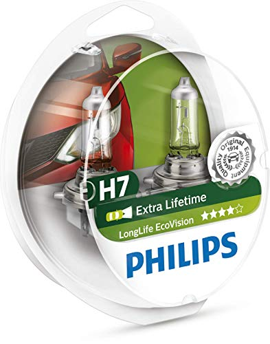 Philips 12972LLECOS2 LongLife EcoVision H7 Scheinwerferlampe Kit (Philips Kit Xenon)