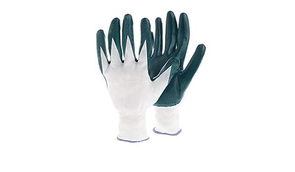 Chimie Travail Zchenchen 1 Paire de Gants de Travail avec rev/êtement en Latex Confort Stretch Gants de s/écurit/é pour Jardinage
