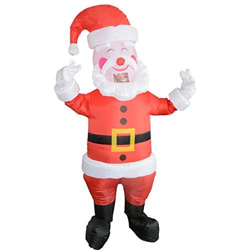 Christmas Decorations Weihnachtsmann Party Uniformen aufblasbare Karneval lustige Kostüme Weihnachtsmann Schneemann Cosplay Mr. Klaus Weihnachtsdekoration aufblasbarer Weihnachtsmann (Mehrfarbig) (Unempfindlich Kostüm)