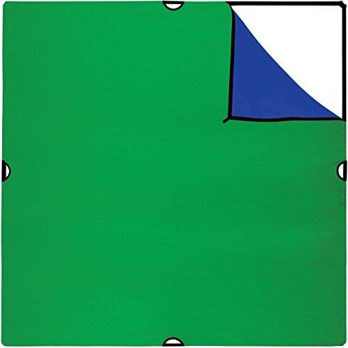 Westcott 72 x 72 Zoll Scrim Jim Large Chroma-Key Hintergrund-Bespannung Blau/Grün - ideal als Bluescreen oder Greenscreen für Foto und Video 180 x 180 cm Chroma-key-bluescreen