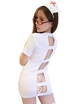 XYZHF**Adulto grande BUSTIERS extrema tentación de probar el kit papel como enfermera vacío uniforme pijama 7986