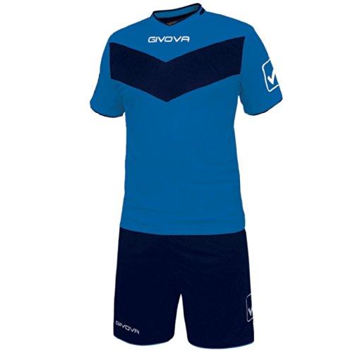 Givova, kit vittoria mc, hellblau/blau, XL