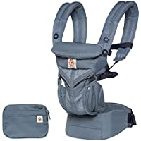 Ergobaby Baby Carrier for Newborn to Toddler, 4-Position Omni 360 Cool Air Oxford Blue, Breathable Ergonomic Child Carrier