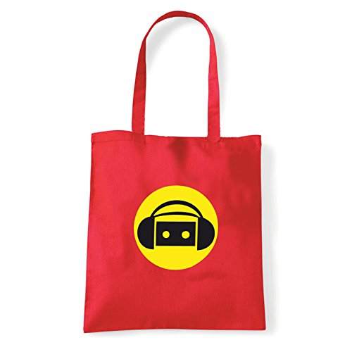 Art T-shirt, Borsa Shoulder music-party Rosso