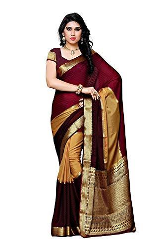 Fasherati Women's Crepe Saree (2104-3D-Chckmj_Multi Color) Crepe Saree