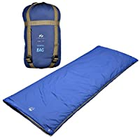 "BESTEAM Agemore Ultra-light Warm Weather Rectangular Sleeping Bag, 75"" L x 30"" W, Outdoor Camping, Backpacking & Hiking - Fit for Kids, Teens and Adults - Spring, Summer & Fall - Waterproof & Compact 21"