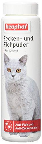 Zecken und Flohpuder Katze | Mittel gegen Zecken und Flöhe | Anti-Zecken & Anti-Flohmittel | Sofortschutz | Zur Anwendung am Tier | 100 g Dose