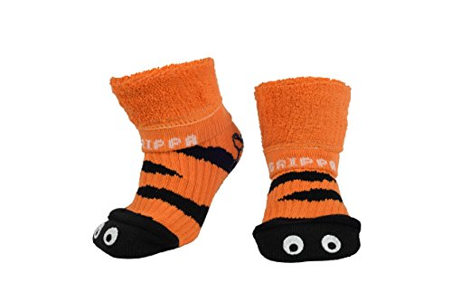 GRIPPA SOCKS TIGER EYES kids slipper socks made in Britain, approved by UK's leading foot health experts, Great for childrens feet