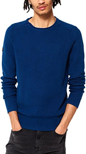 Superdry Herren Sportsweatshirt Garment Dye L.a. Textured Crew Legion Blue