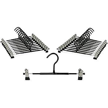 30x Kleiderbügel Hosenbügel Clipbügel Klammerbügel Hosenspanner Rockbügel Metall