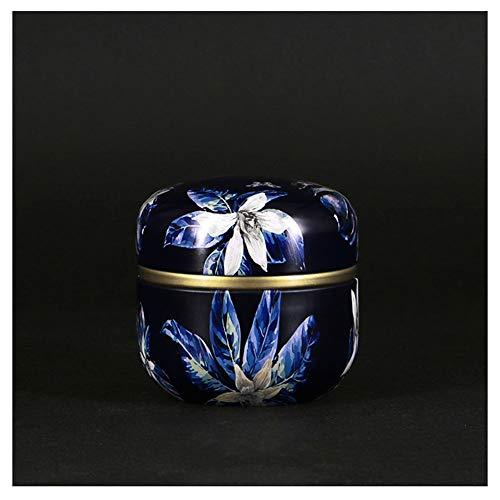 RRH Mini Metall Urne der Cremation,Urne for menschliche Asche Erwachsene,Haustier,Hund,Katze,im Haus oder im Büro oder in Niche (Color : Mysterious Flowers) (Erwachsene Handwerk Legen)