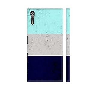 Colorpur Xperia XZ Dual Cover - Blue Concrete Design Printed Back Case