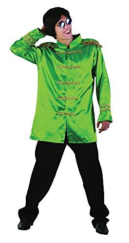 3SGT PEPPER Budget Jacke, Grün, 42–Blumenkasten (Sgt Pepper Halloween-kostüm)
