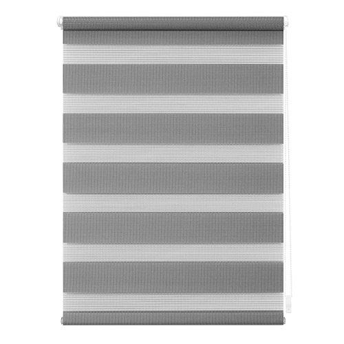 Lichtblick KDR.075.150.04 Duo-Rollo Klemmfix, ohne Bohren Grau, 75 cm x 150 cm (B x L)