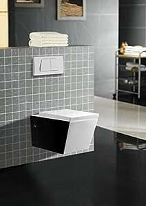 art of baan design wand wc toilette schwarz wei mit lotus effekt duroplast soft close. Black Bedroom Furniture Sets. Home Design Ideas
