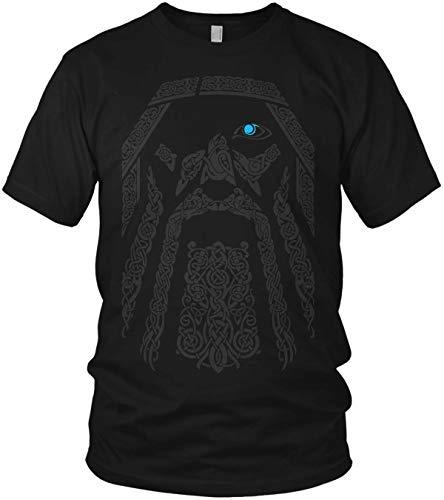 Odin Wikinger Wodan Valhalla Rising Walhalla Vikings - Herren T-Shirt und Männer Tshirt, Größe:XL, Farbe:Schwarz Original Blau -