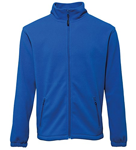2786 Mens Full Zip Shaped Fleece Jacket Royal