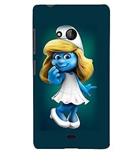 Printvisa Cute Smurfette Back Case Cover for Lumia Lumia 540::Microsoft Lumia 540