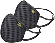 EUME Protect+ 95 Reusable and Washable Face Mask (UNISEX) - (Black, Pack of 2)