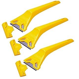 (Pack of 3) Stanley Window Scraper 0-28-590 Decorators Glass Paint Remover Scrapers 028590
