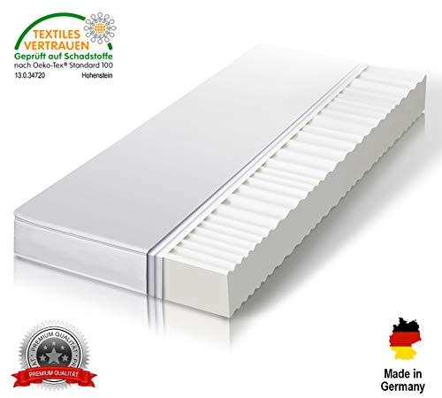Träumegut Orthopädische 7-Zonen Matratze - Kaltschaummatratze Härtegrad H2 & H3 - Microfaserbezug - ÖkoTex Rollmatratze - 11cm (90 x 200 cm, H3)