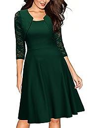 a87cbed608 Amazon.it: vestito verde - Vestiti / Donna: Abbigliamento