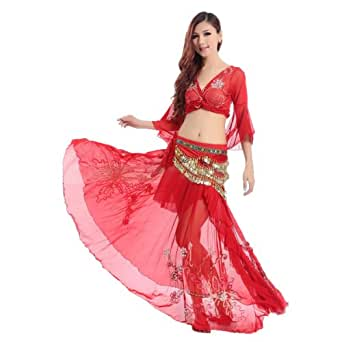 H:oter Belly Dancing Embroidery Dancing Costumes Set, A Three-Piece, Price/Set