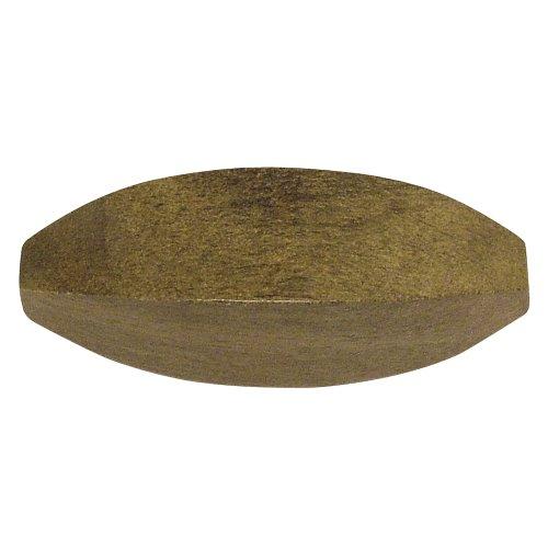 Rayher - Holz- Perle Olive, 10x30mm, SB-Btl 2Stück, stahlgrau - 568 Sb