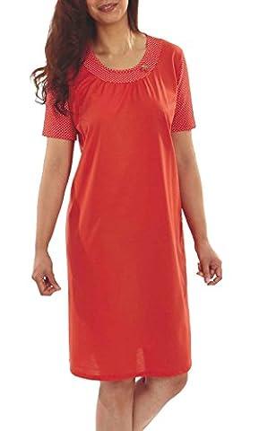 Graziella Nachthemd Cherry Sleepshirt 1/4 Arm 38/40 Nachtwäsche 100% Baumwolle Big Size