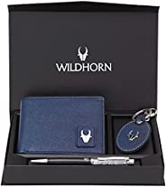 WildHorn® RFID Protected Genuine Leather Wallet & Gift Combo for
