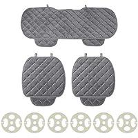 3 Unids/set Universal Cómodo Suave Cuadrado Asiento de Coche de Algodón Cojín Del Frente Asiento Trasero Auto Pad Pad Mat Suministros para el coche