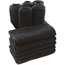 TowelsRus Toallas de peluquería Negro (Reactive Dyed, ...