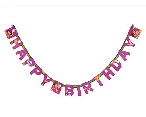 ora The Explorer Birthday Banner Party Supplies by Dora the Explorer ()