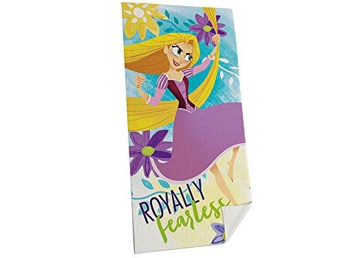 Disney rapunzel wd19545 telo mare, spiaggia, asciugamano, cotone, multicolore