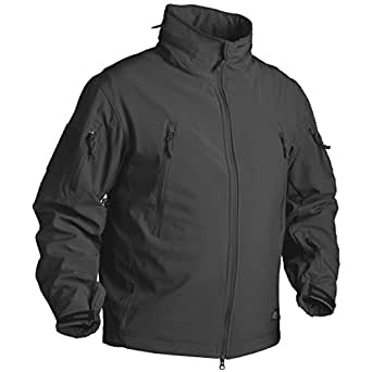 Gunfighter Soft Shell Mens Airsoft Jacket Helikon Black